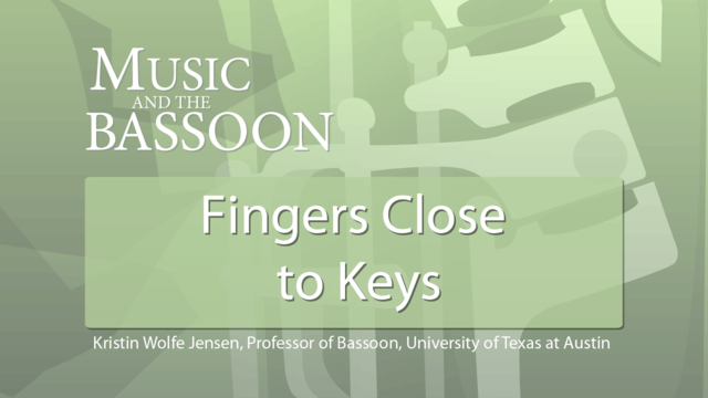 Play Video Fingers Close to Keys