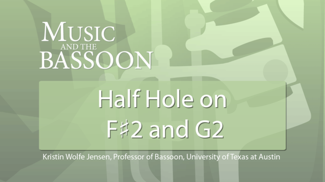 Play Video Half-Hole on F# and G2