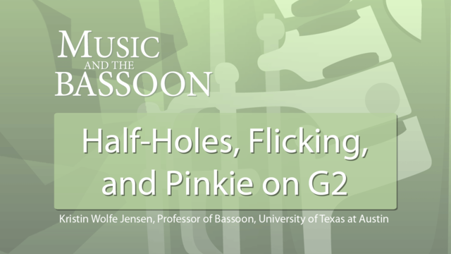 Play Video Half-Holes, Flicking, and Pinkie on G2