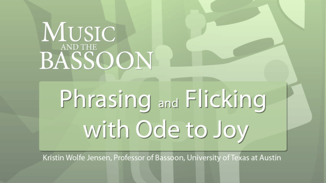 "Play Video Phrasing and Flicking with ""Ode to Joy"""