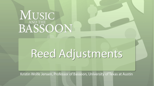 Play Video Reed Adjustments