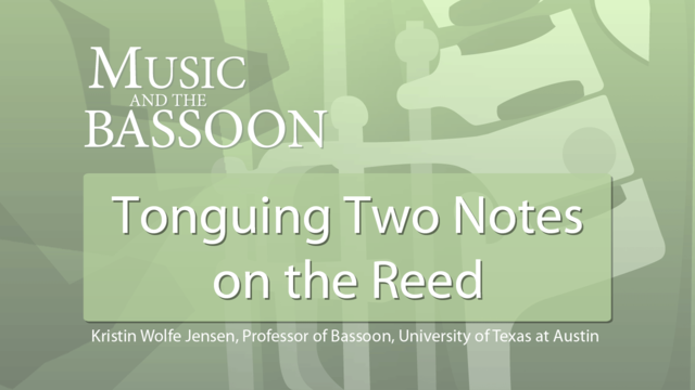 Play Video Tonguing Two Notes on the Reed